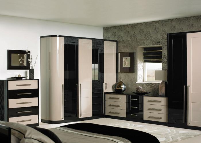 Спальни черно белый дизайн.